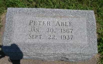 ABLE, PETER - York County, Nebraska | PETER ABLE - Nebraska Gravestone Photos
