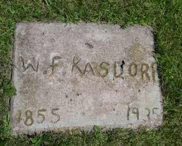KASDORF, W. F. - York County, Nebraska | W. F. KASDORF - Nebraska Gravestone Photos