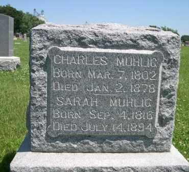 MUHLIG, SARAH - York County, Nebraska | SARAH MUHLIG - Nebraska Gravestone Photos