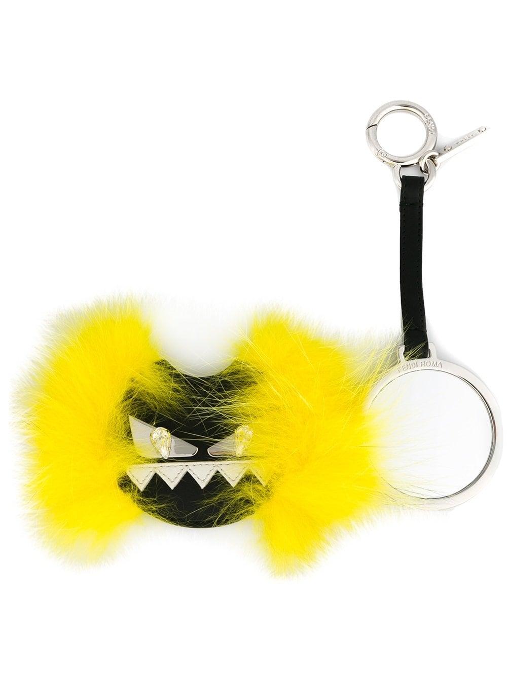 Monster Bug black leather and yellow fox fur keyring FENDI |  | 7AR455-87DF06EE