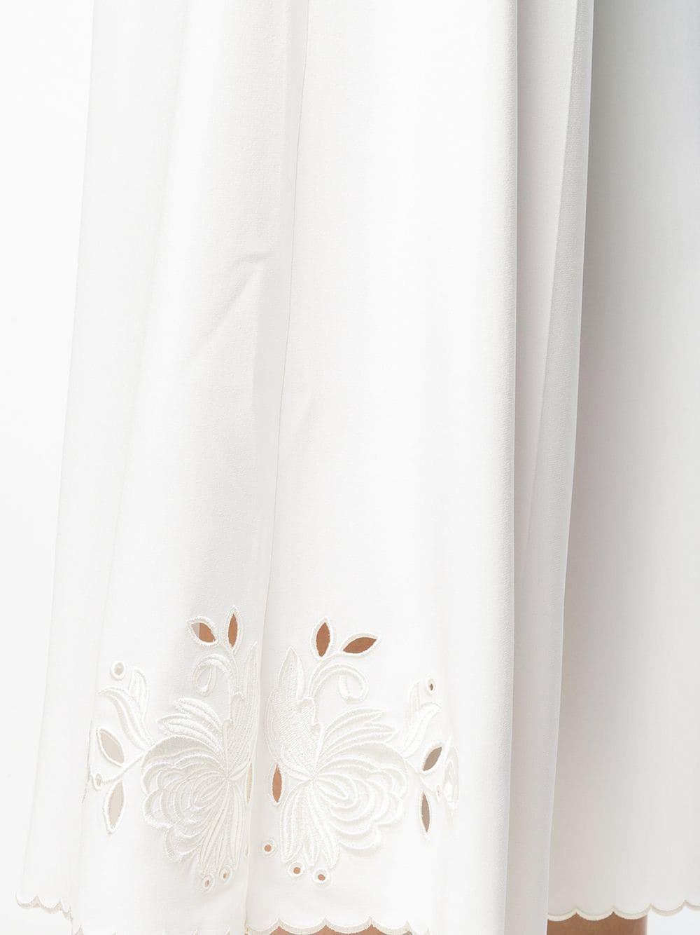 white cotton high waist wide leg pants STELLA MC CARTNEY |  | 530500-SCA069001