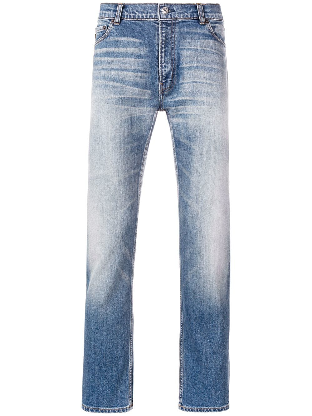 blue cotton blend slim-fit jeans  BALENCIAGA |  | 534525-TAP078469