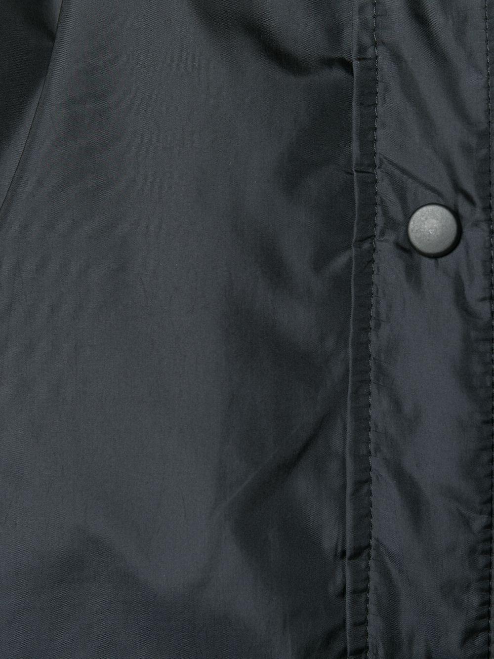 Camicia-giacca nera a maniche lunghe con colletto alla coreana ALBERTO ASPESI | Giacche | 9N14-796196241
