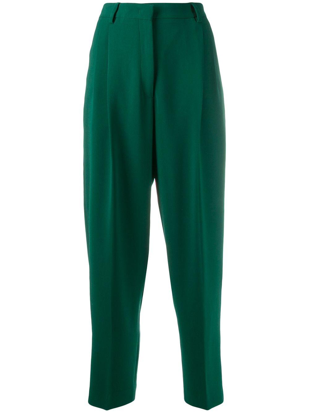 Pantaloni verdi a vita alta ALBERTO BIANI | Pantaloni | CC802-AC003072