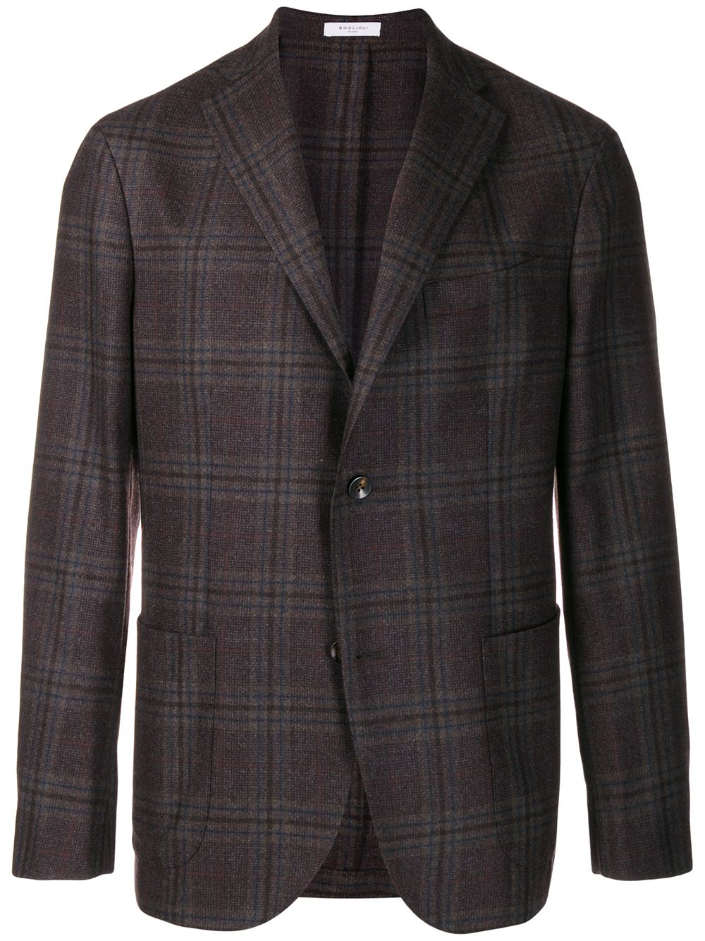 Giacca monopetto in misto cotone e lana vergine marrone BOGLIOLI   Giacche   N1302EWS-BPC043491