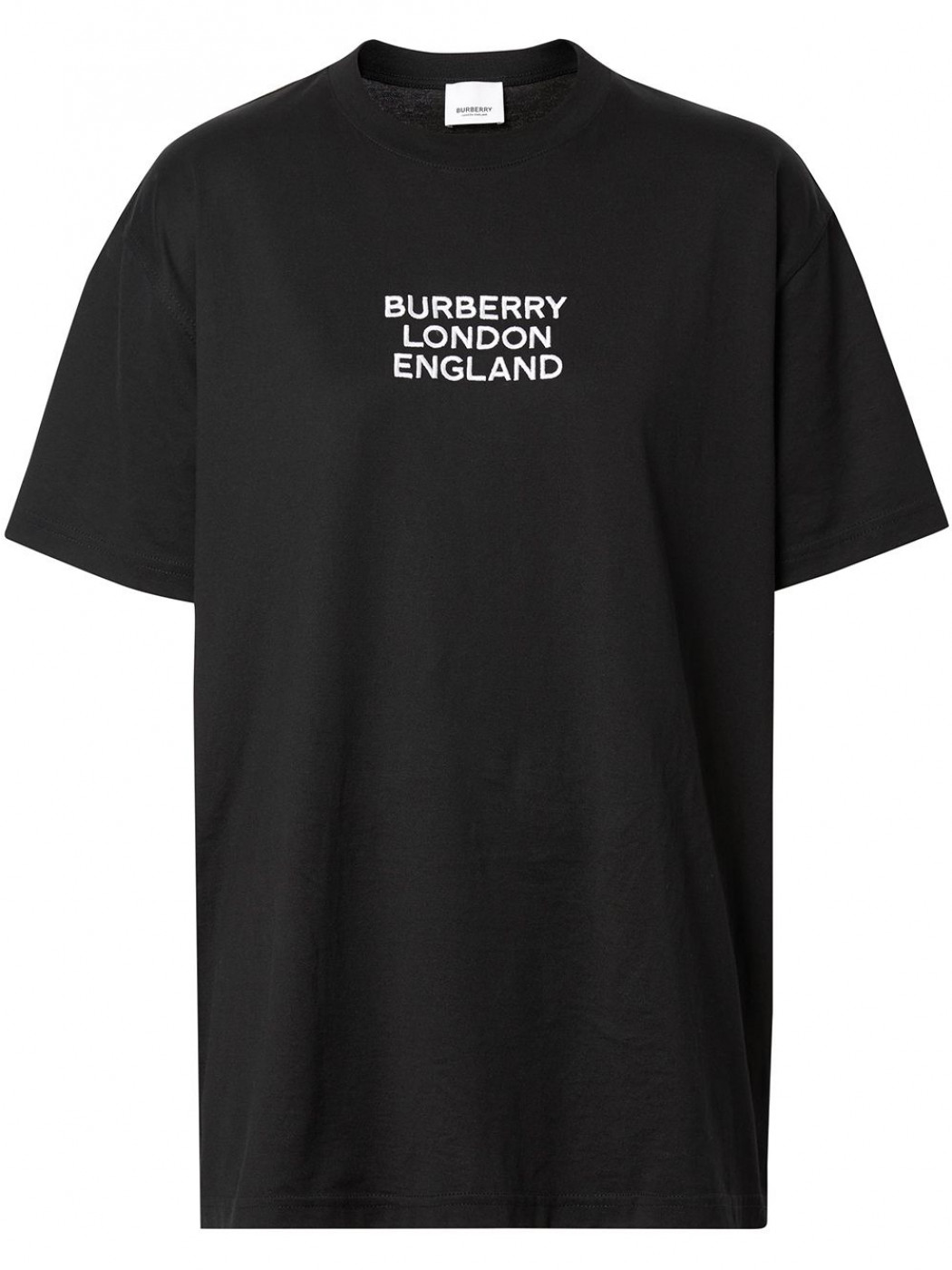 black cotton t.shirt with front logo lettering Burberry London England BURBERRY |  | 8021175-CARRICKA1189