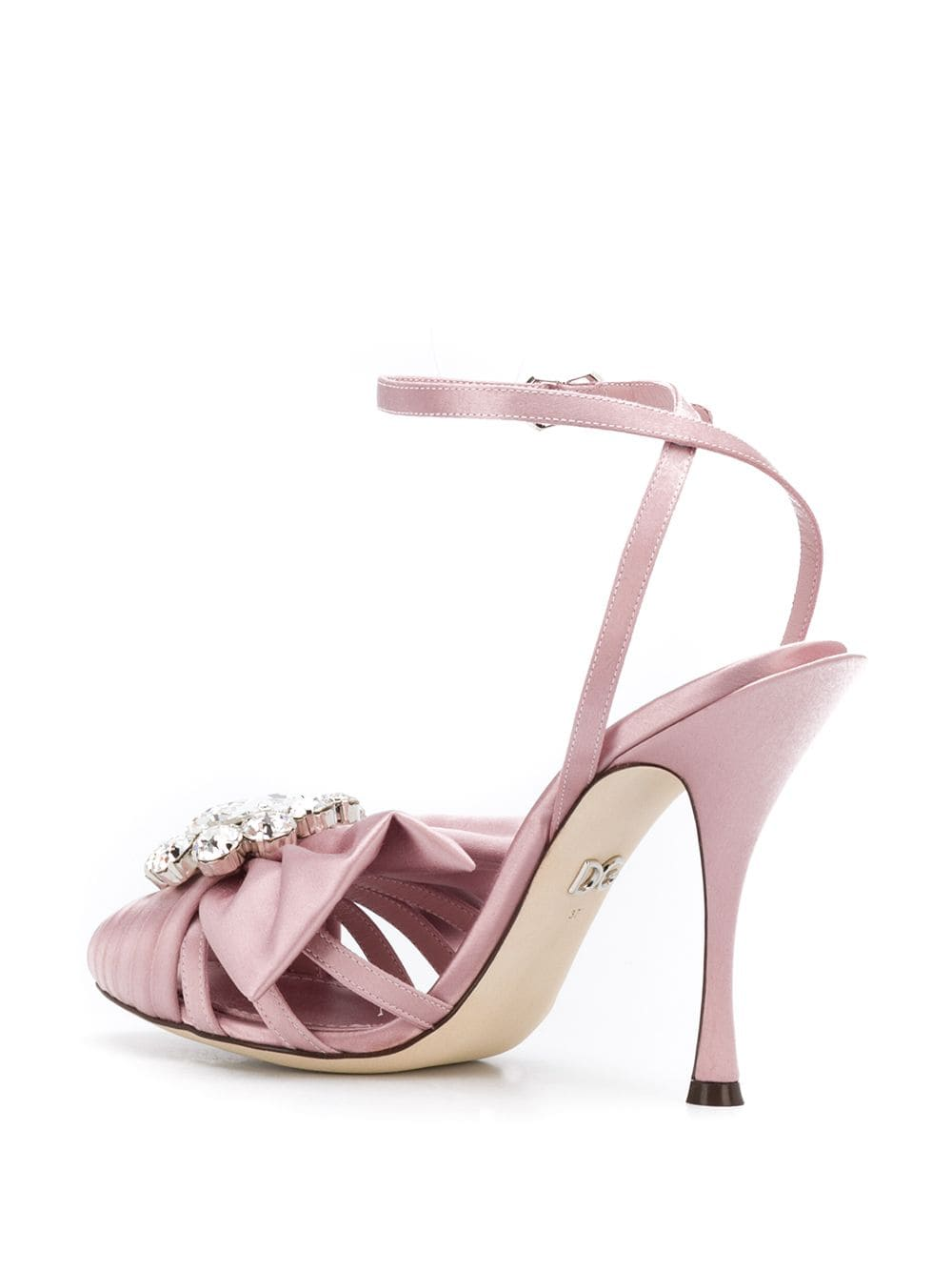 pink leather and suede open toe sandal DOLCE & GABBANA |  | CR0831-A76308H406