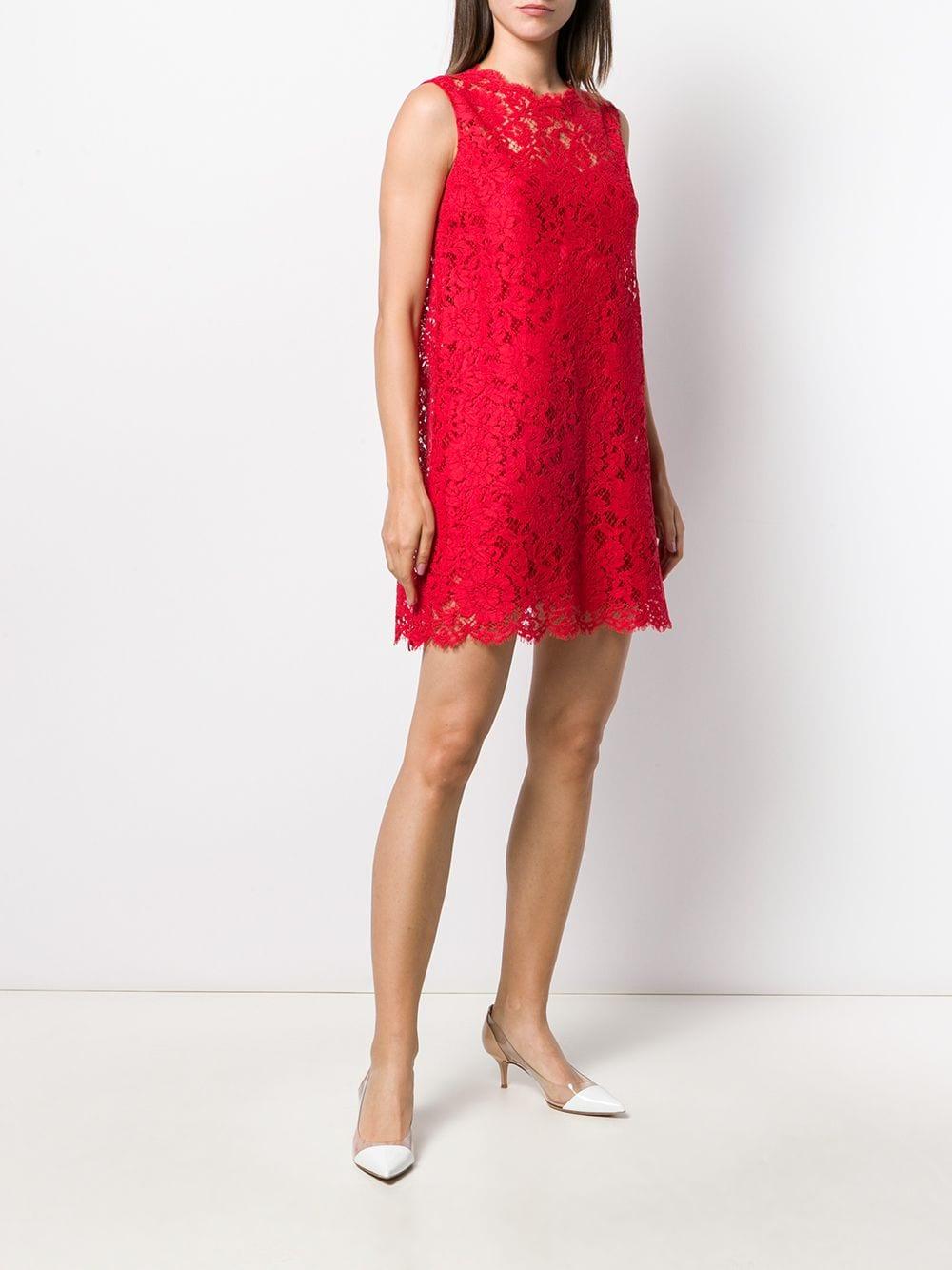 red silk and lance short sleveless dress DOLCE & GABBANA |  | F6A6OT-FLM9VR2254