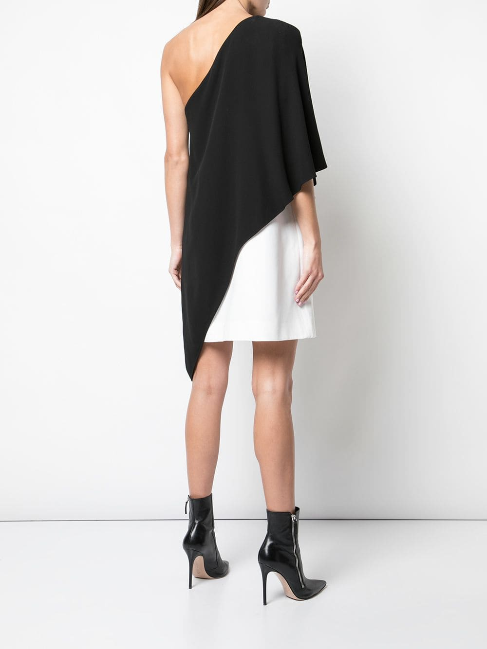 one shoulder black and white colour-block silk and cotton dress GIVENCHY |  | BW20KQ10F4004