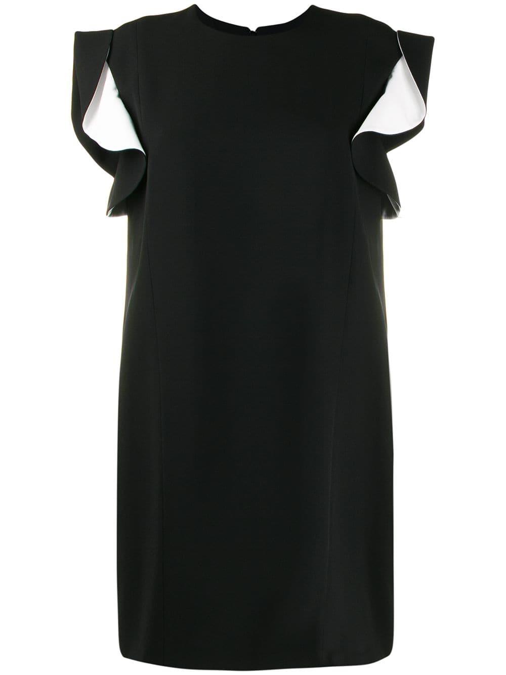 black and white sleeveless ruffle dress GIVENCHY      BW20KV10F4004