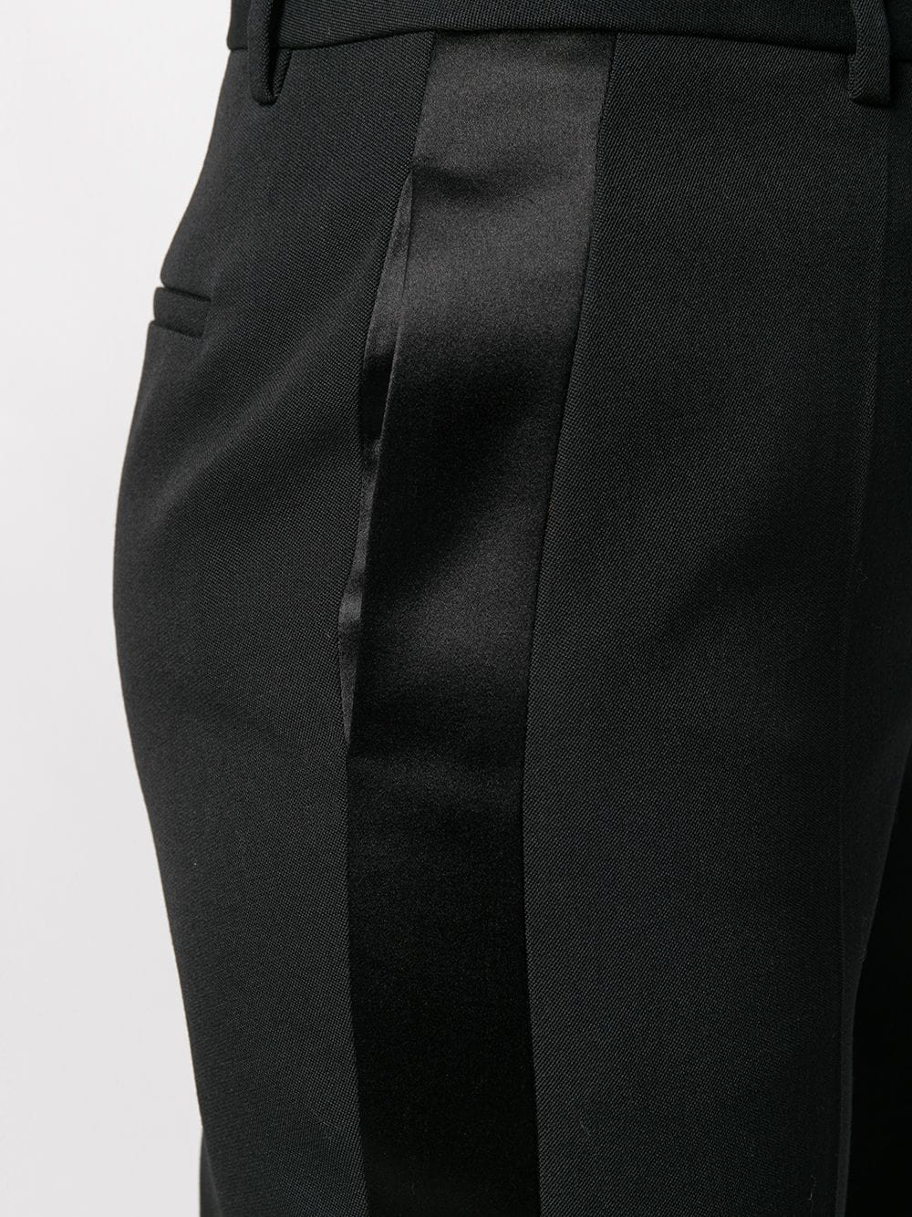 black wool tuxedo black trousers with side satin black band GIVENCHY |  | BW50E111BN001