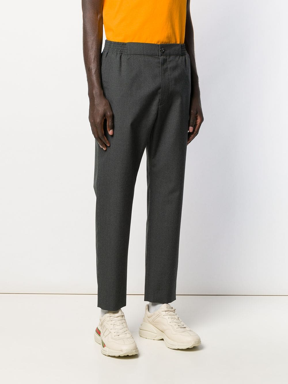 grey wool mid-rise straight leg trousers  GUCCI |  | 568612-ZABW01200
