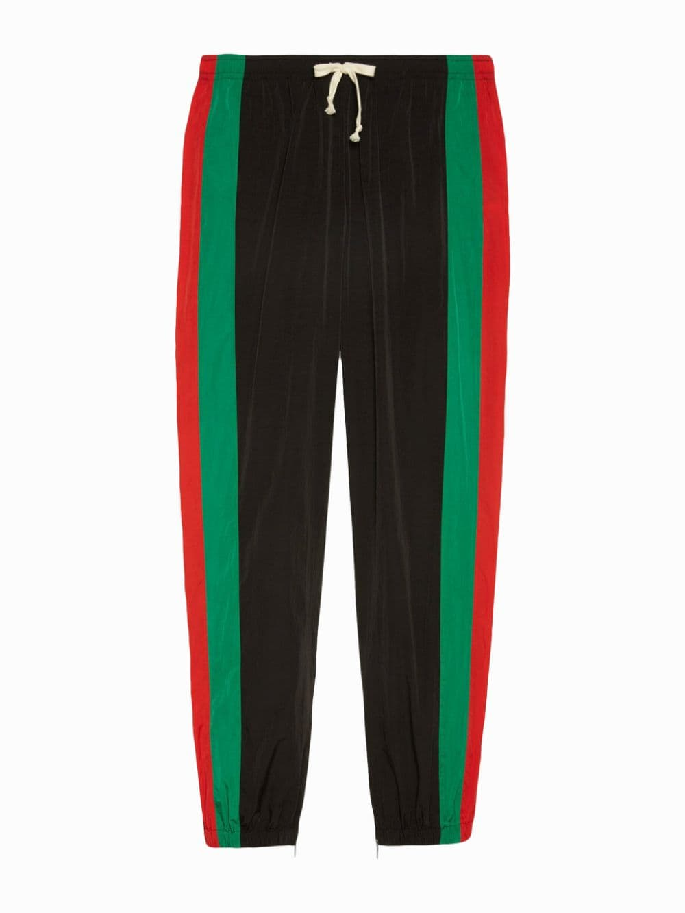 unisex lightweight nylon black, green and red jogging pants with loose silhouette GUCCI |  | 575549-XJBAK1060