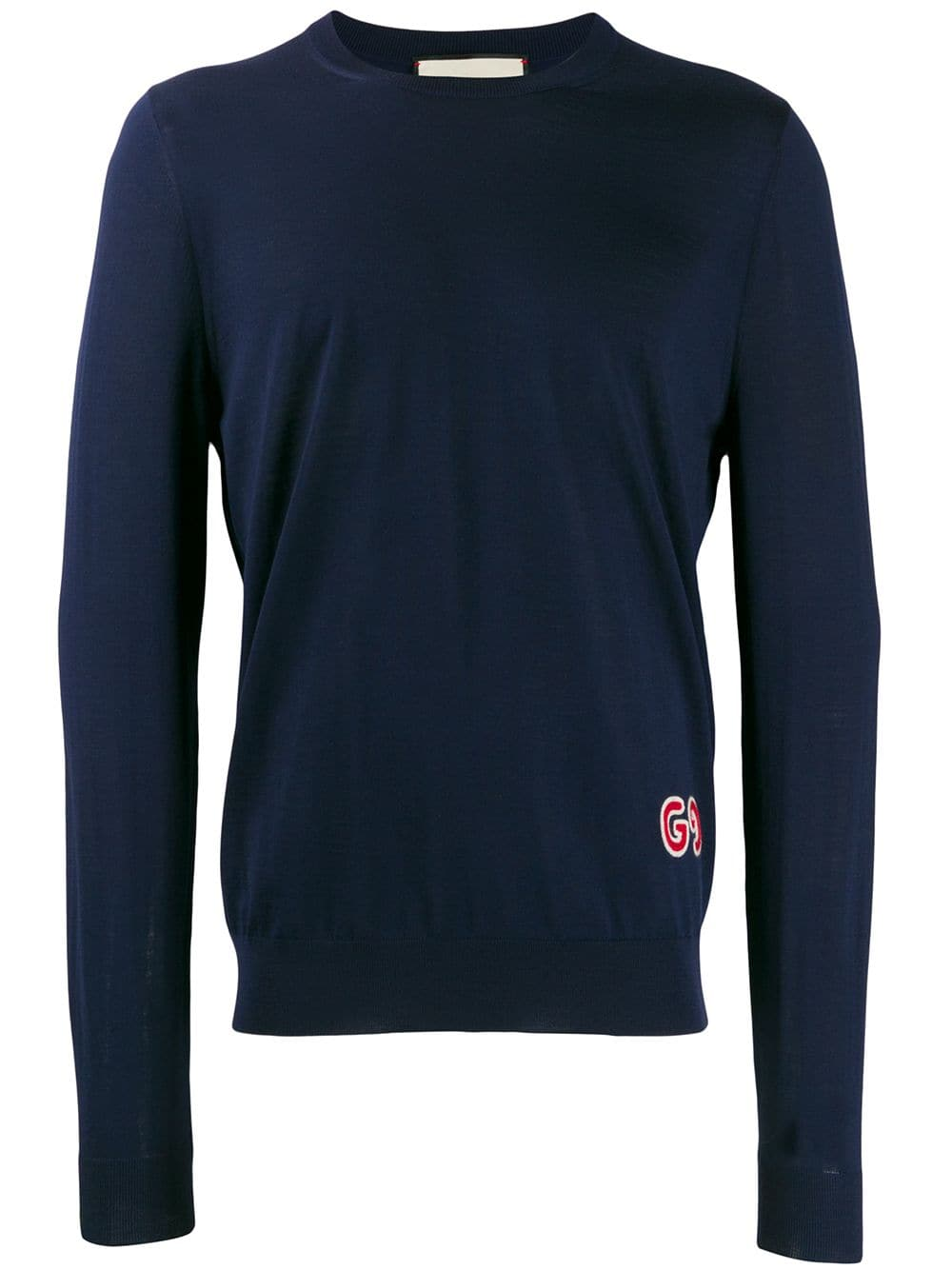 slim fit navy wool jumper featuring a round neck GUCCI |  | 576810-XKAOW4440