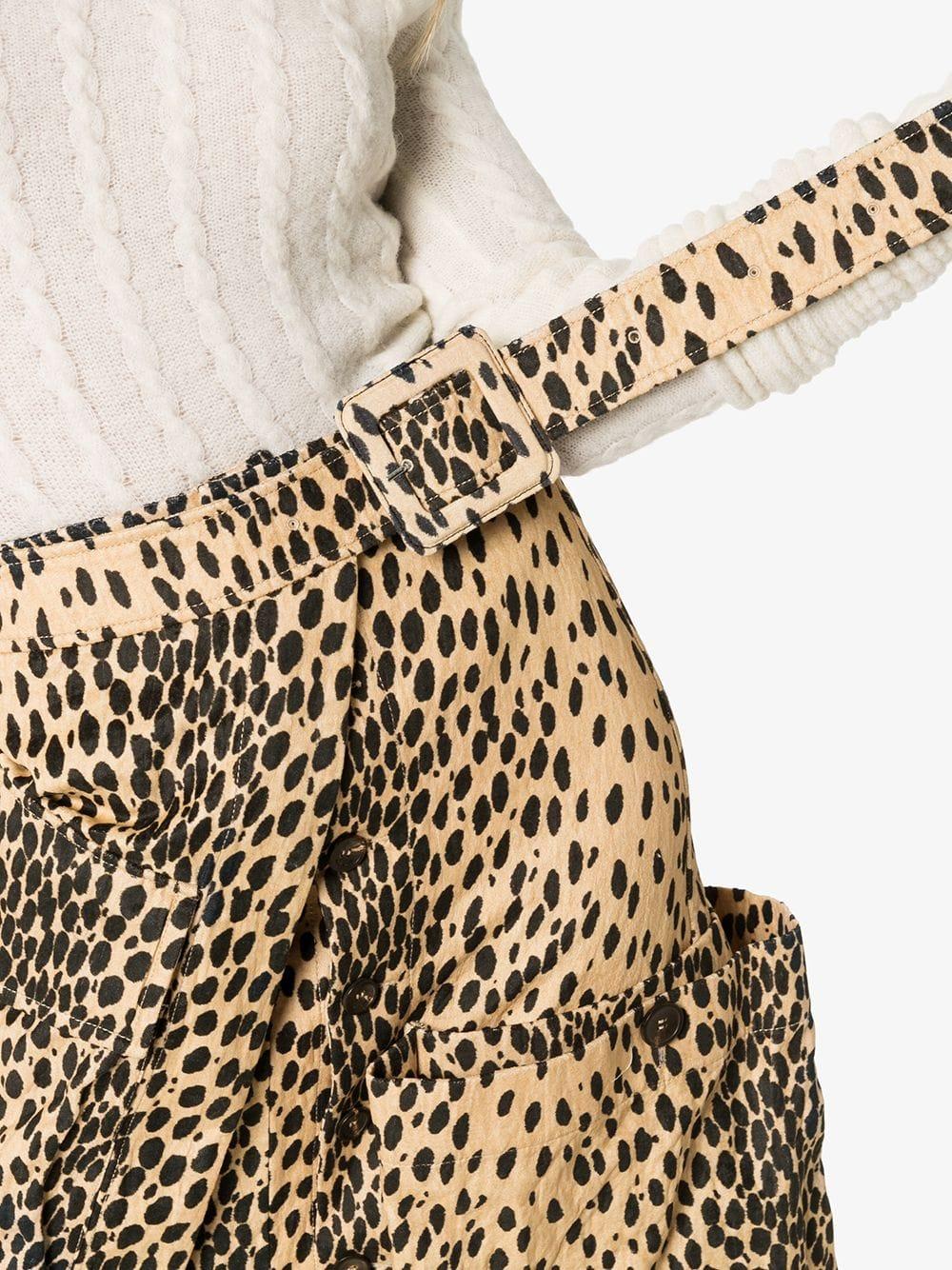brown cotton blend leopard print asymmetric midi skirt JACQUEMUS |  | 193SK012105A