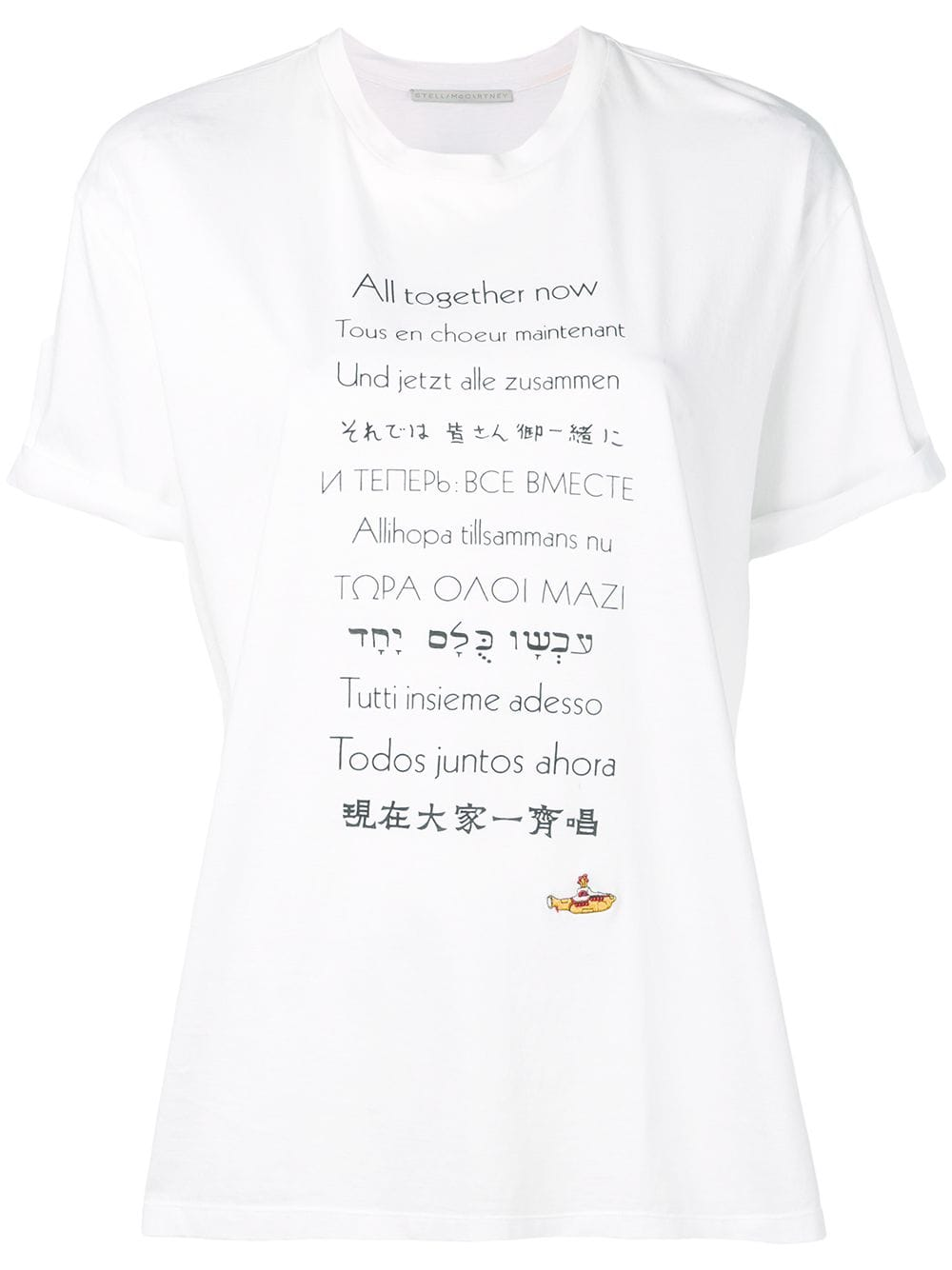 white cotton short sleeves All together now t.shirt STELLA MC CARTNEY |  | 457142-SMW869000