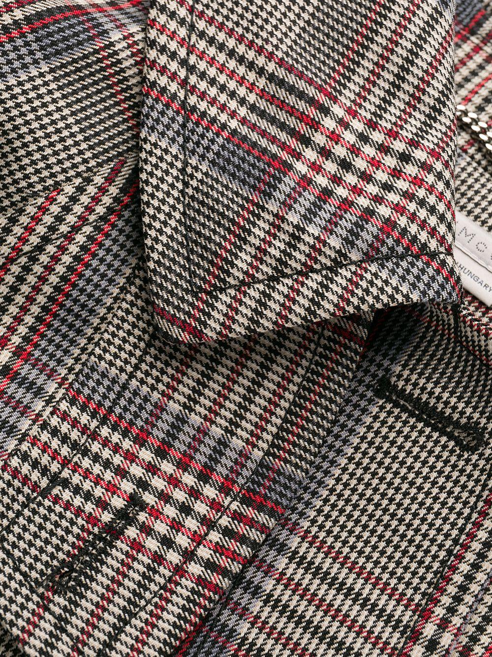 grey Scottish Check long polyester and wool coat STELLA MC CARTNEY |  | 571885-SNA401000