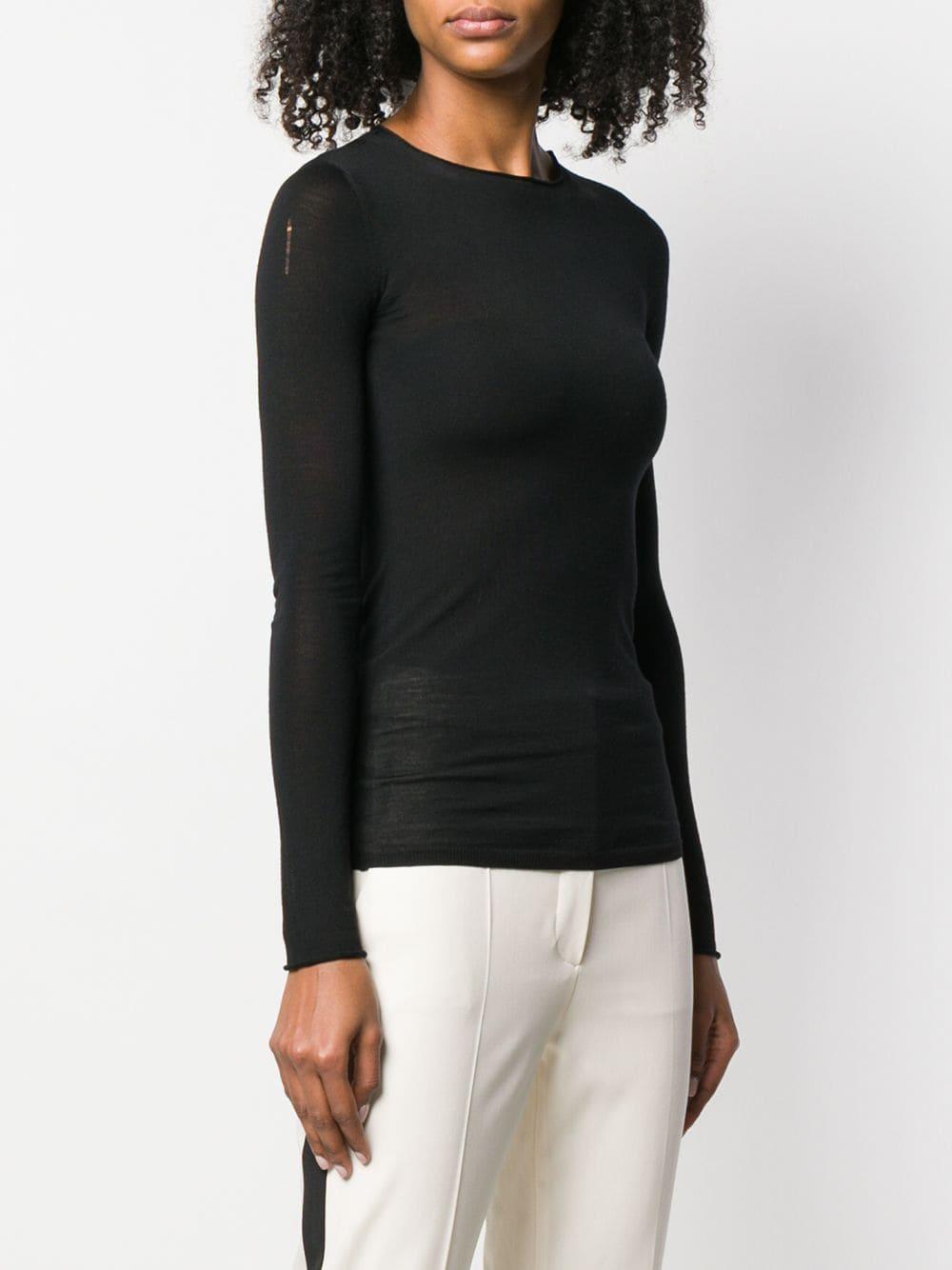 top a maniche lunghe in lana vergine STELLA MC CARTNEY | Maglieria Moda | 573722-S17351000