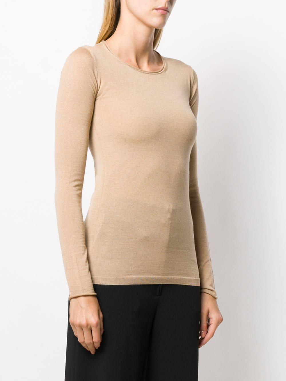 pull-over in lana vergine cammello STELLA MC CARTNEY | Maglieria Moda | 573722-S17352600