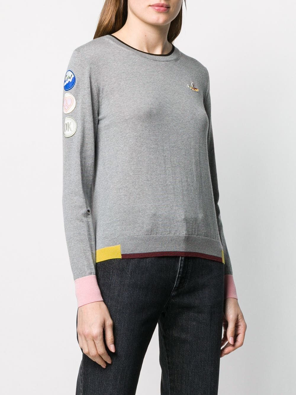 All togerther now light grey jumbper with multicolor details and side patch STELLA MC CARTNEY |  | 579834-S21081262