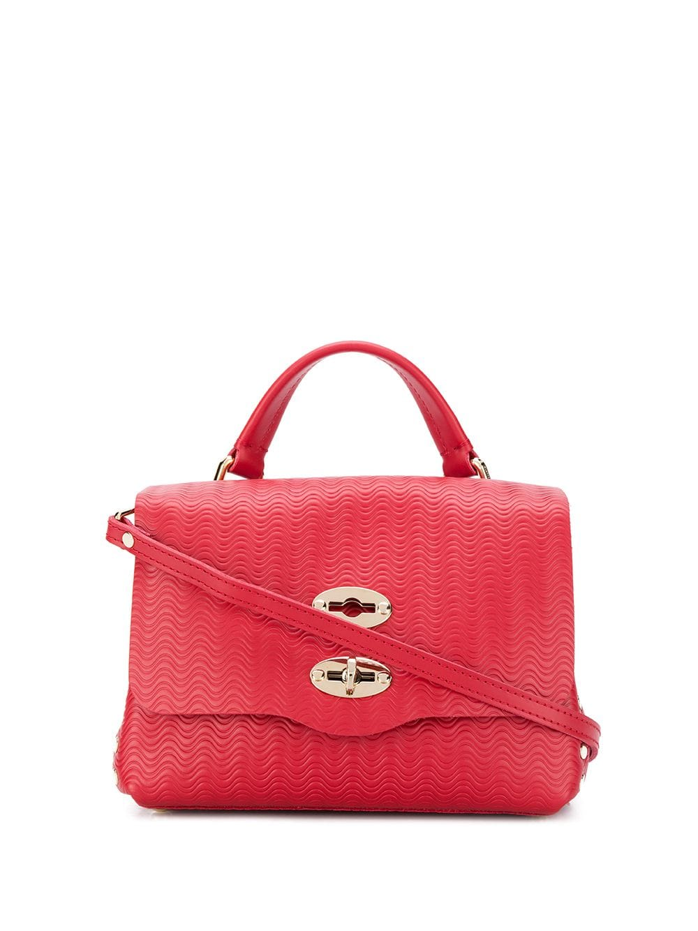 red baby Postina cross-body bag in wave effect print leather Zanellato      6263-6073