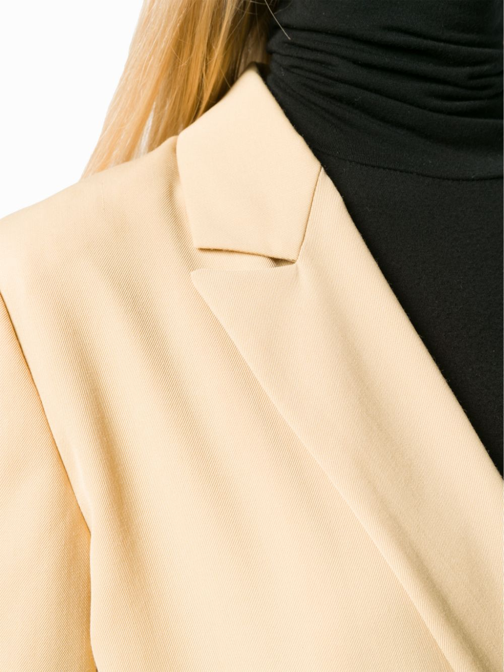 Blazer giallo aderente doppiopetto in misto lana vergine FORTE_FORTE | Giacche | 6726VANIGLIA
