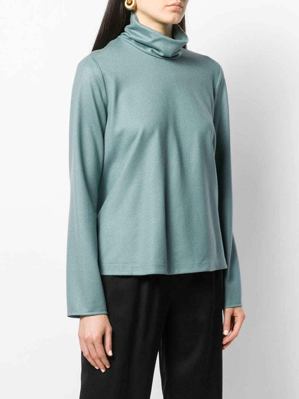 Blue wool turtleneck top featuring long sleeves FORTE_FORTE |  | 6740CARTA ZUCCHERO