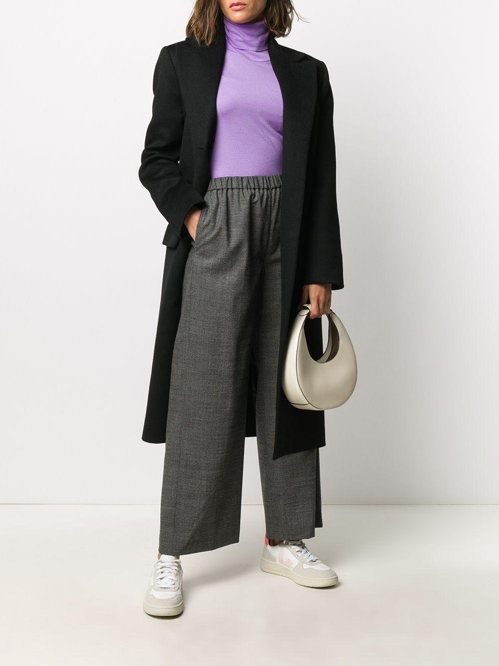 Maglione lilla in lana con collo alto ALBERTO ASPESI | Maglieria | 4083-496701205