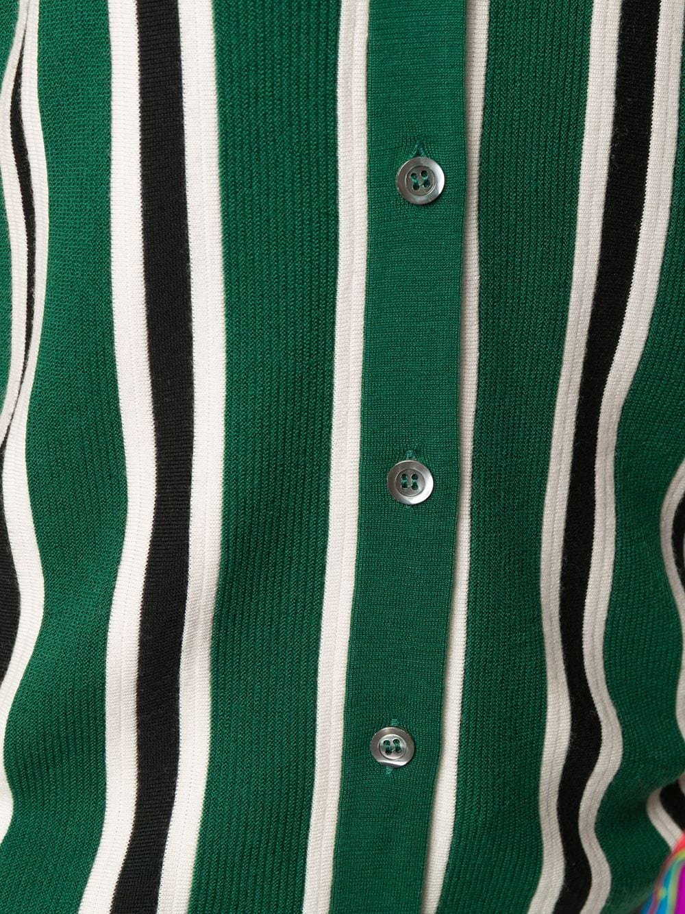 Green wool jumper featuring vertical black and white stripes ALBERTO ASPESI |  | 5036-496701503