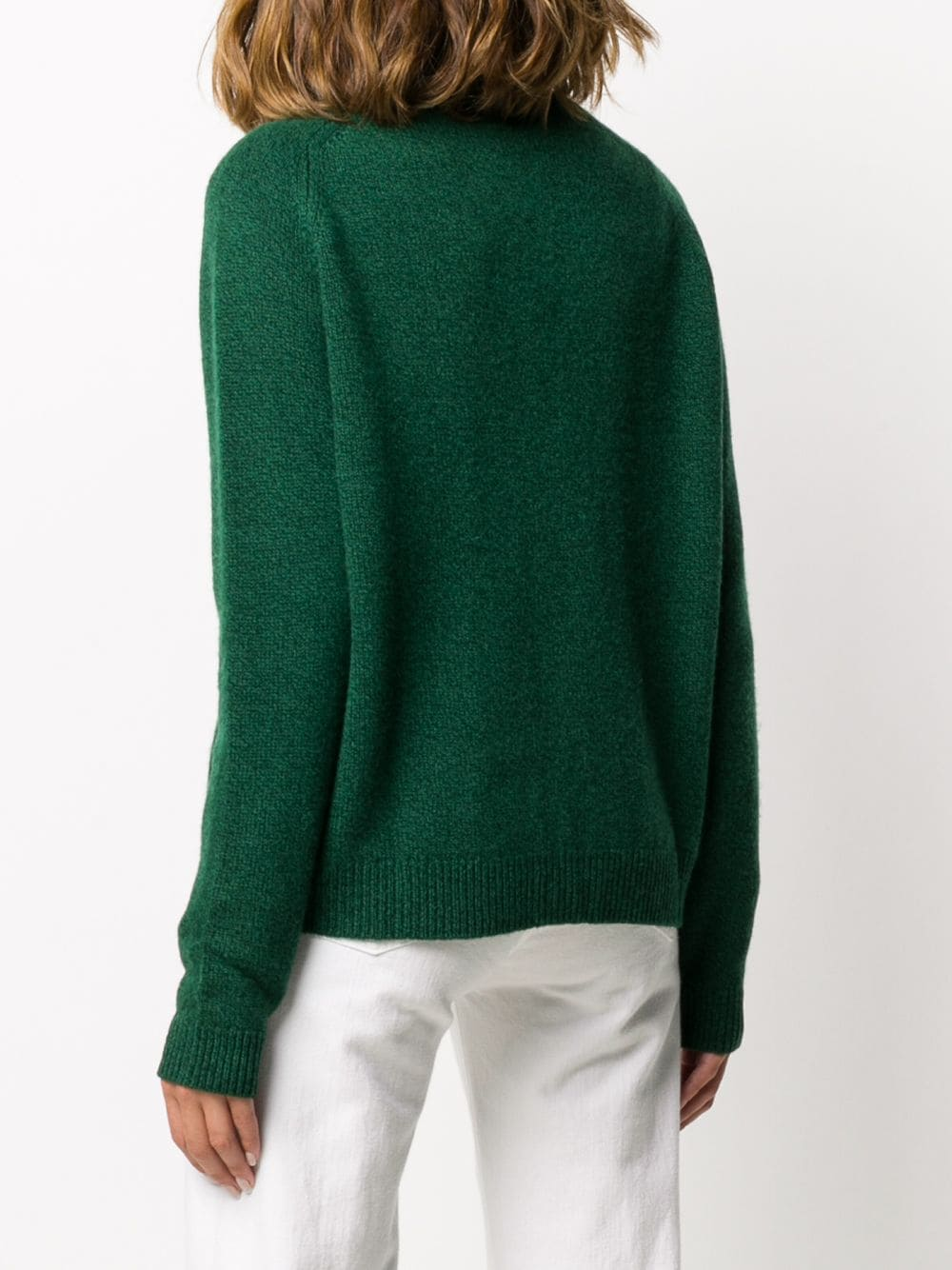 Dark green rib-trimmed wool cardigan featuring V-neck ALBERTO ASPESI |  | 5050-562385397