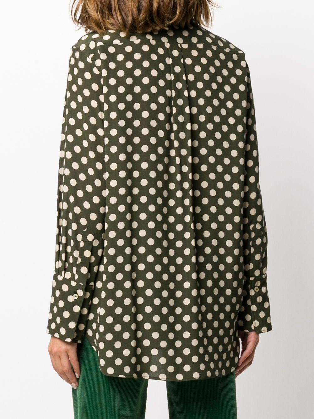 Camicia in seta verde kaki con colletto alla coreana, ALBERTO ASPESI | Camicie | 5402-A32355237