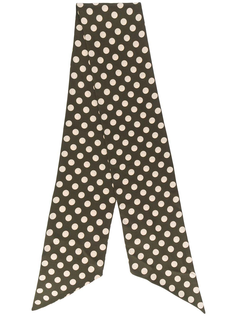 sciarpa verde scuro in seta a pois con bordo rifinito ALBERTO ASPESI | Sciarpe e foulards | 8809-A32355237