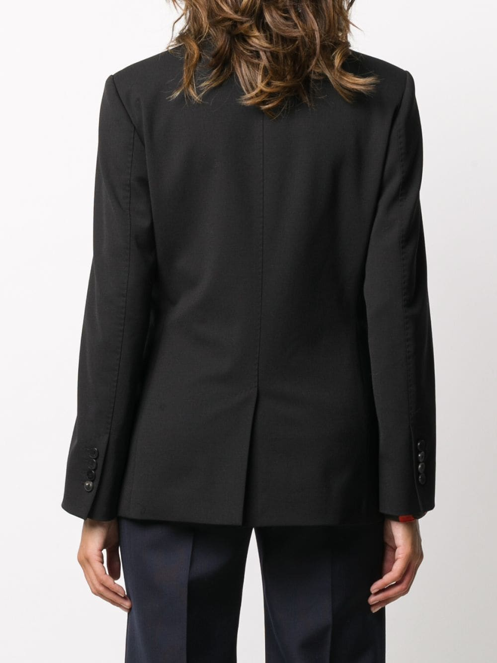 black cotton and virgin wool blazer featuring wide peak lapels ALBERTO BIANI |  | II821-WO024190