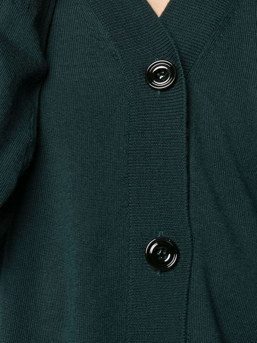 Dark green virgin wool cardigan featuring ribbed edge ALTEA |  | 206152843