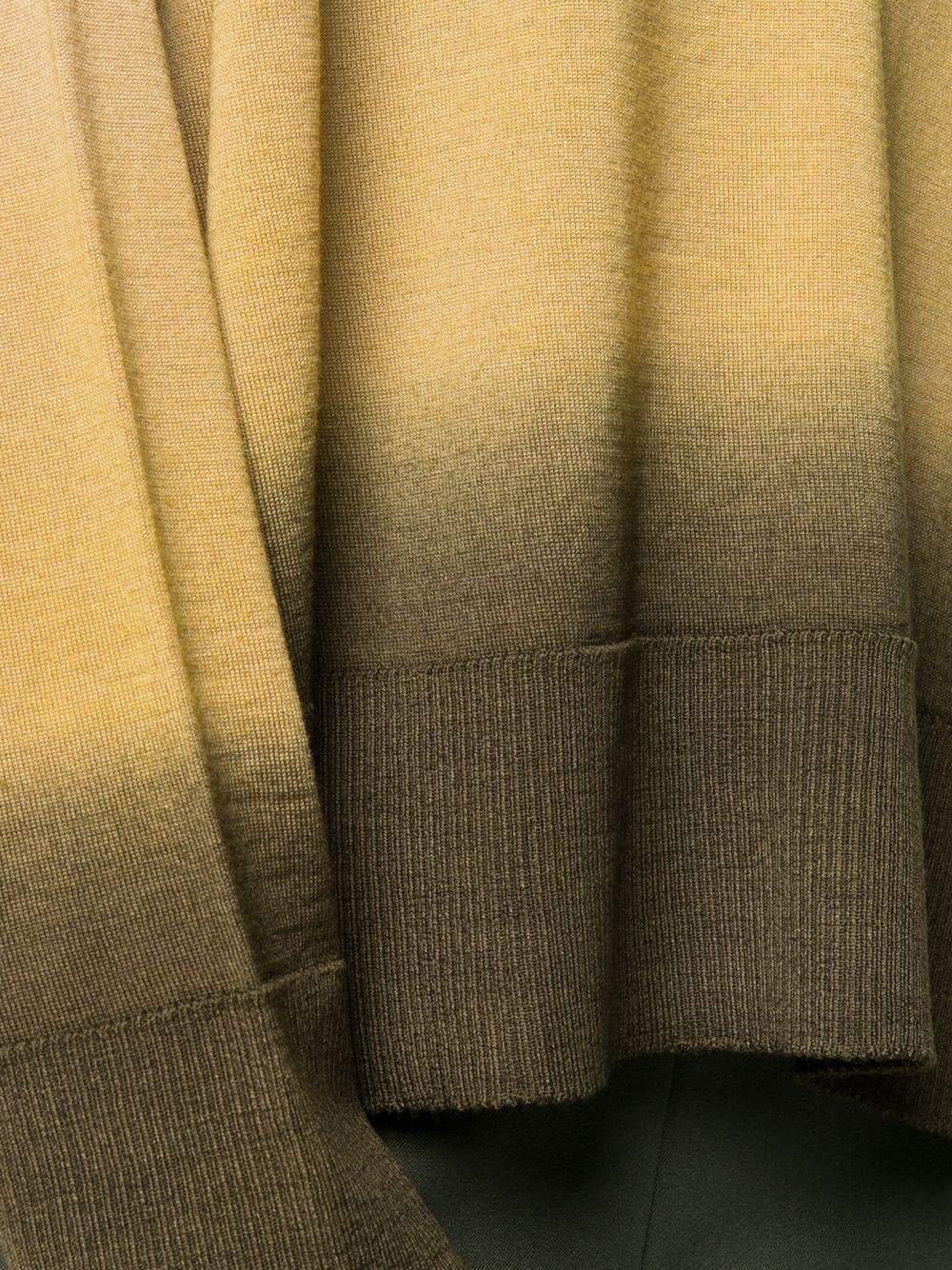 Top tie-dye in lana vergine marrone e giallo senape con scollo tondo ALTEA   Maglieria   206156145