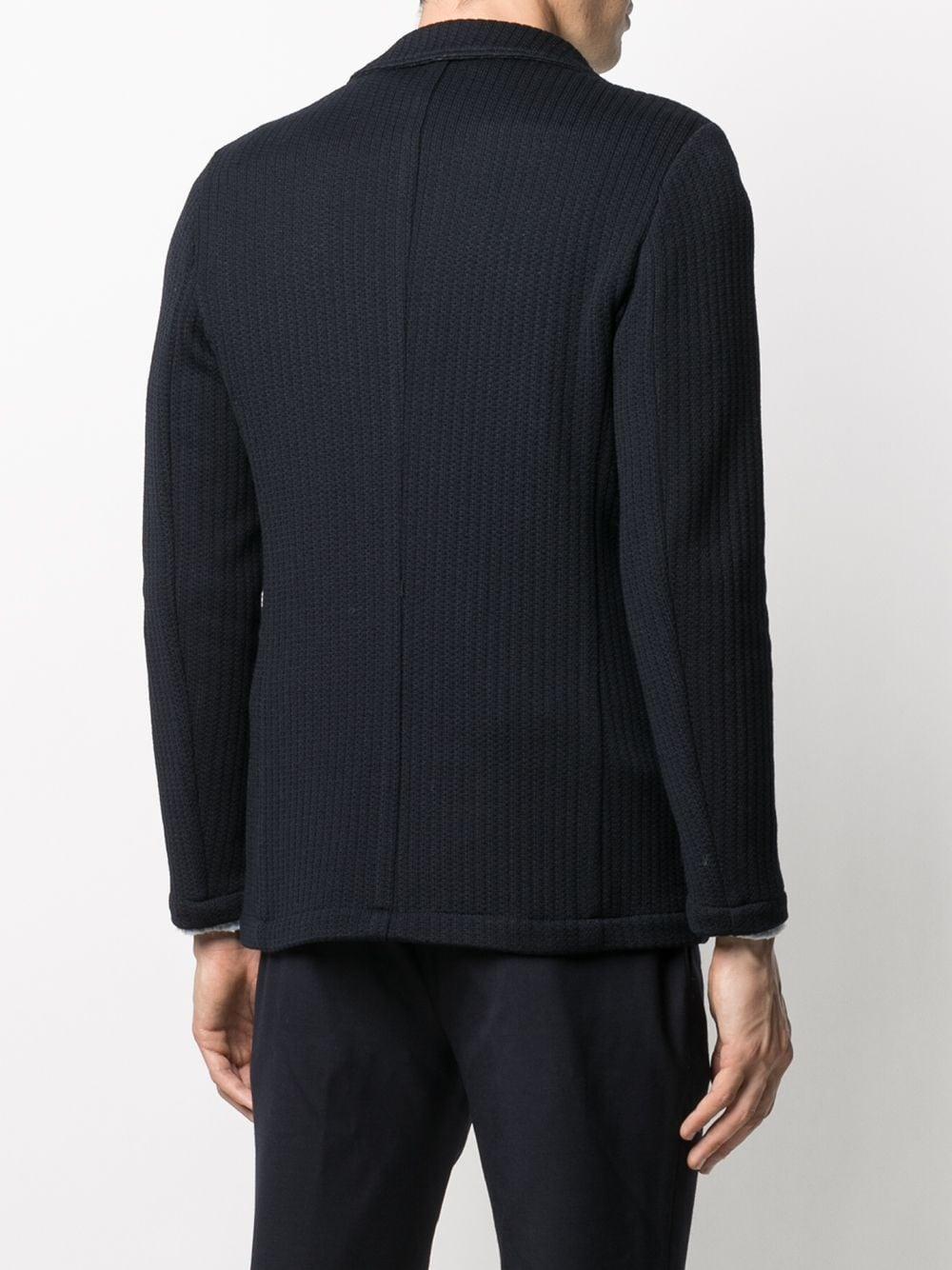 dark navy virgin wool single breasted stripe-knit blazer ALTEA |  | 206232602