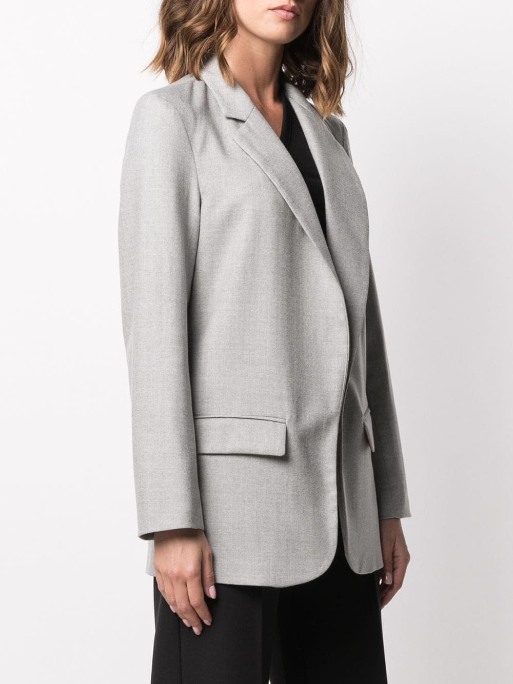 Light grey single breasted blazer featuring notched lapels ALTEA |  | 206250423