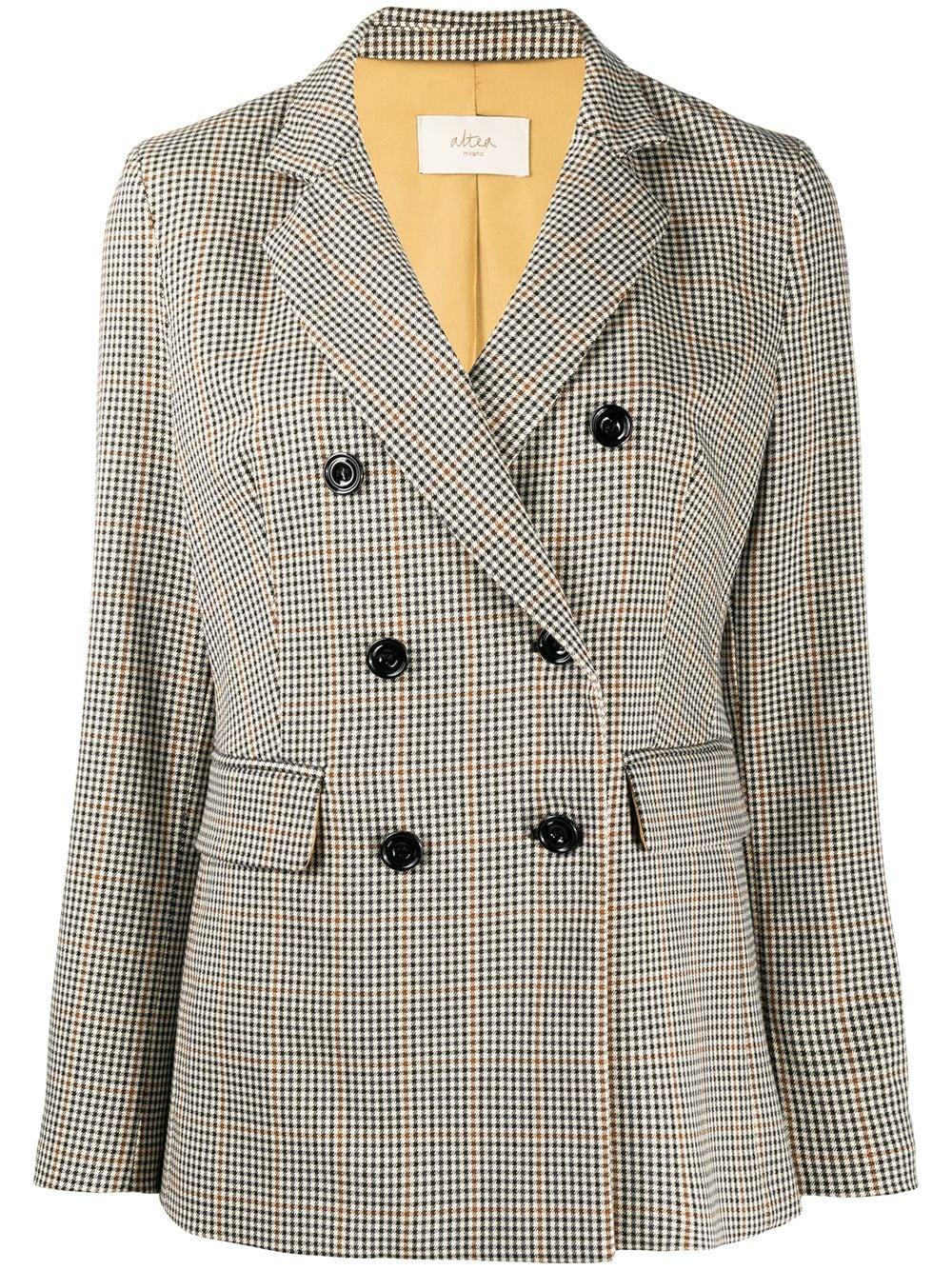 Grey checked double-breasted blazer  ALTEA      206251390