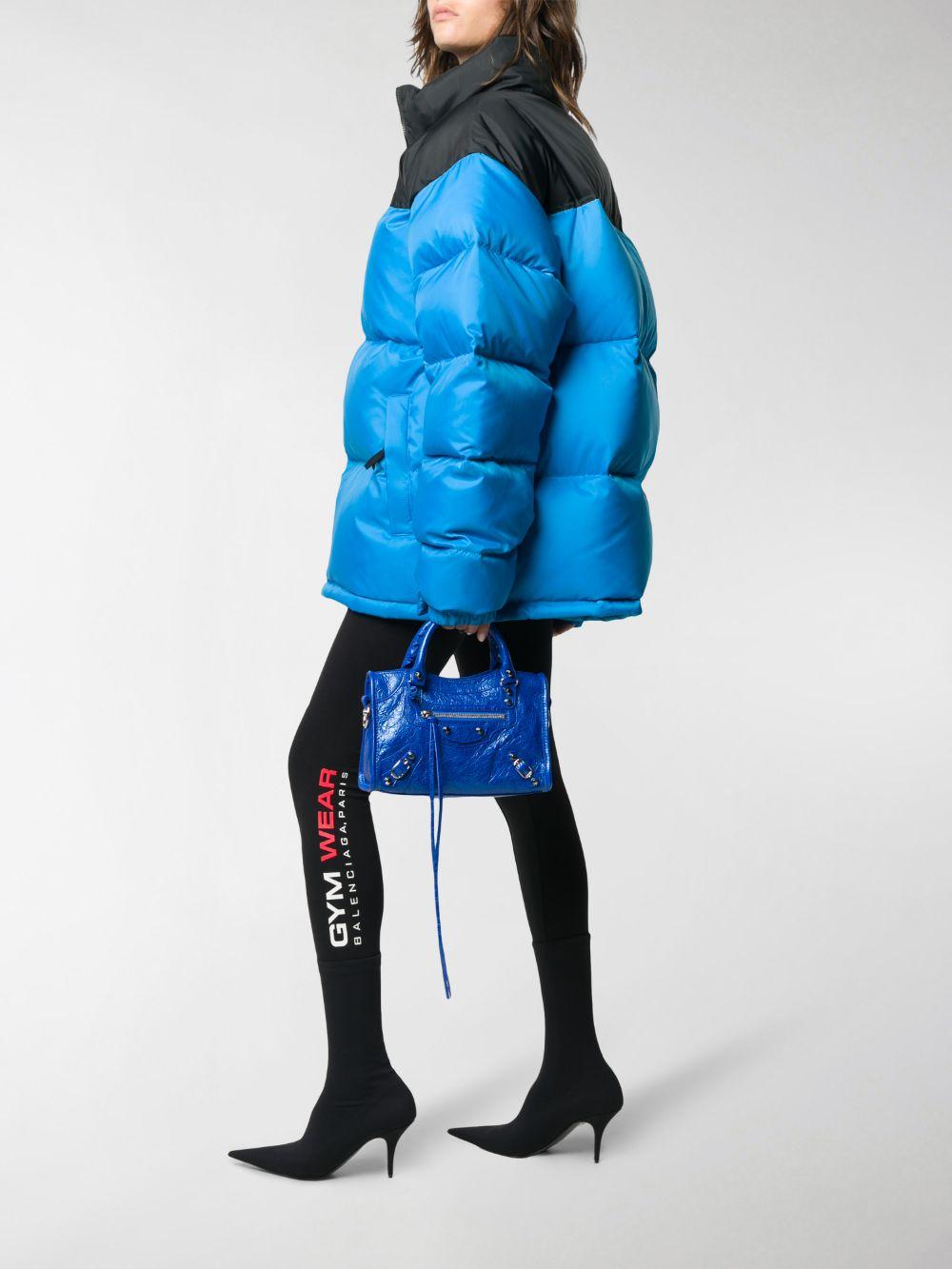 Black stretch cotton jersey Gym Wear foot leggings  BALENCIAGA |  | 629233-TIVD61000