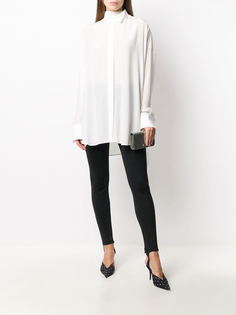 White cotton tuxedo scarf shirt  BALENCIAGA      642258-TJLB41401