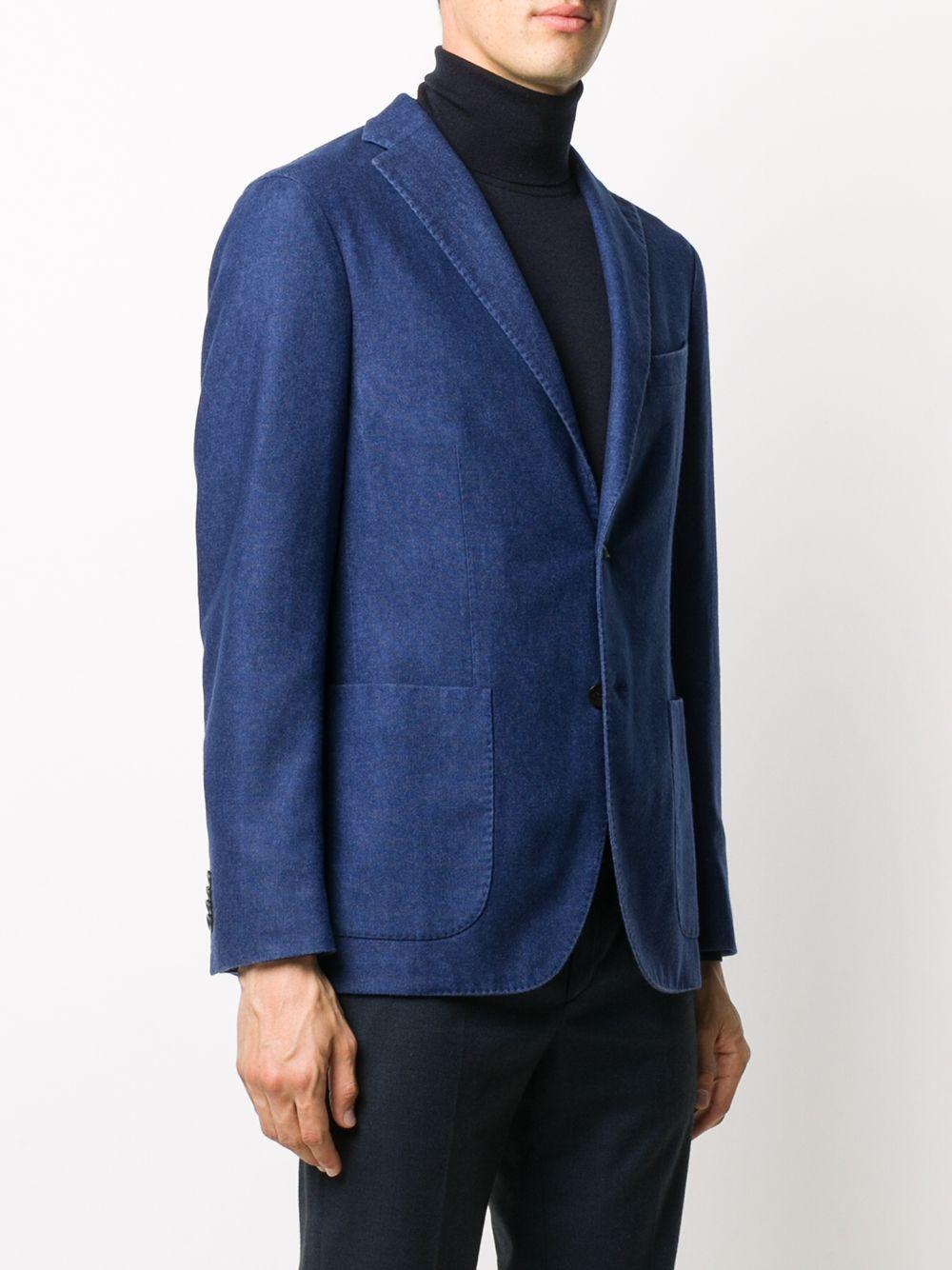 Blue stonewashed effect wool jacket  BOGLIOLI |  | N1302J-BSC4150764