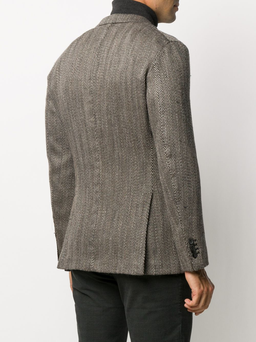 Gray herringbone wool and linen jacket with two buttons BOGLIOLI |  | N1302J-BSC4590409