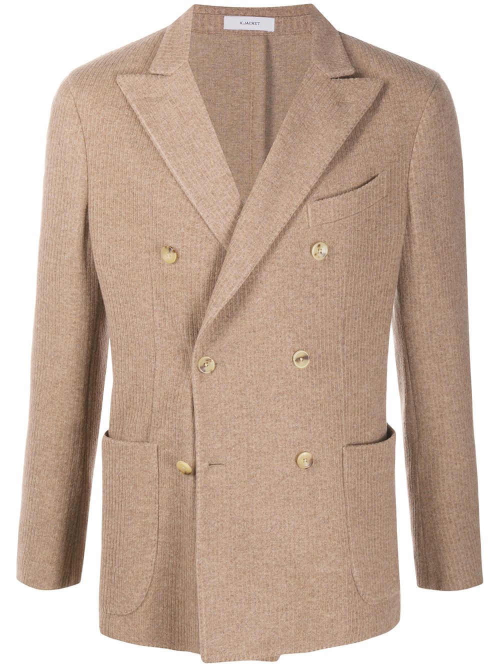 Double-breasted sand-colored wool jacket  BOGLIOLI |  | N4302E-BSC0170330