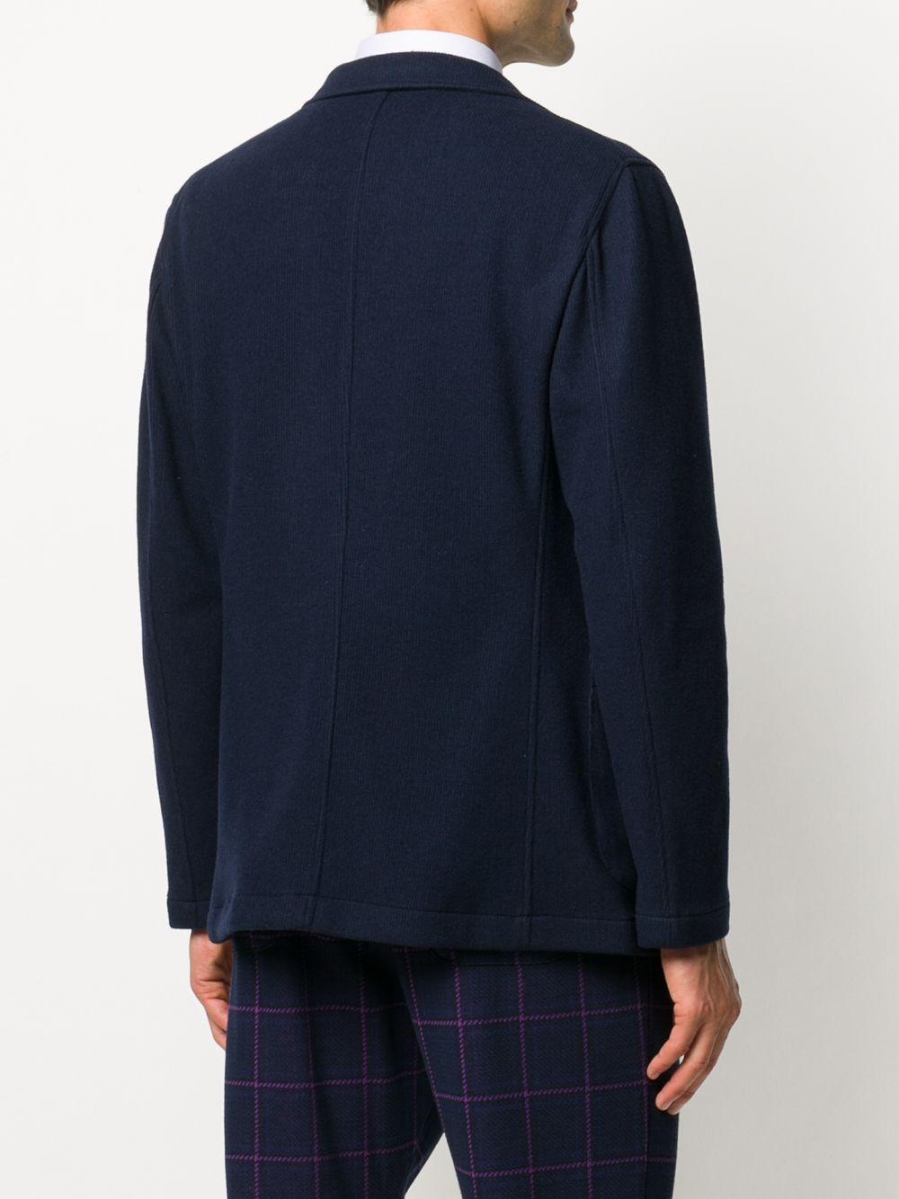 Blazer in twill leggero di misto lana vergine e cotone blu navy con revers a dente BOGLIOLI   Giacche   OG0062M-BSC0180790