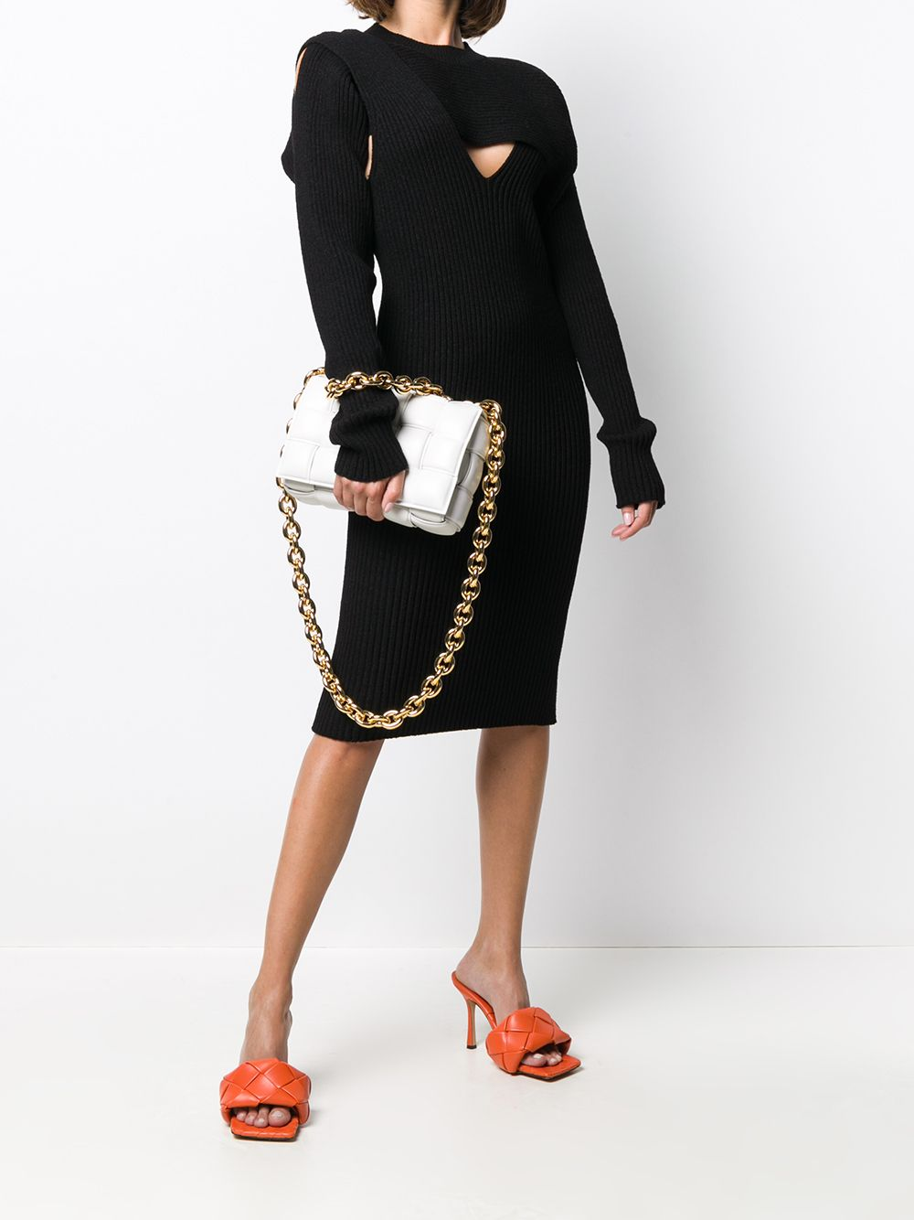 little black dress in cotton and viscose with triangle cut-out details BOTTEGA VENETA |  | 628710-VKWD01000
