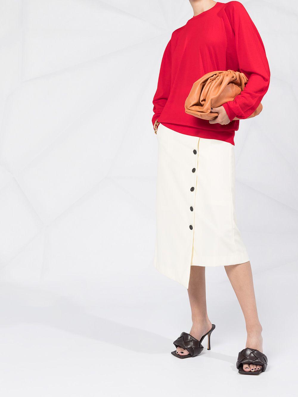 maglione in lana merino rosso con fit oversize BOTTEGA VENETA | Maglieria | 633132-VKWI06188
