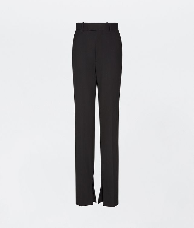 Black cotton and stretch wool sit cuffs tailored trousers featuring high waist BOTTEGA VENETA |  | 636529-V02W01000