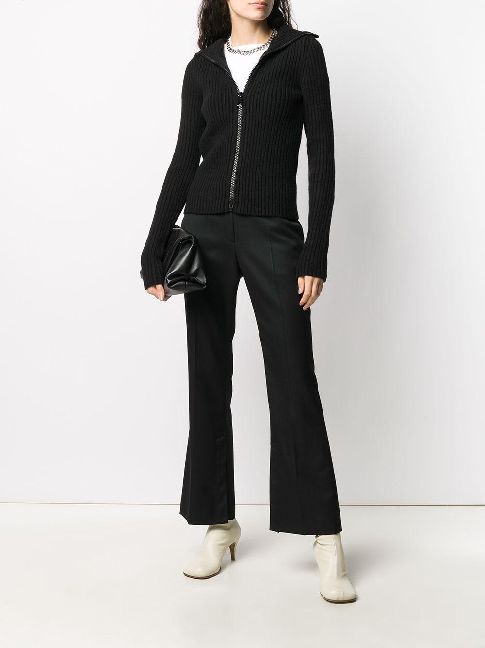 cardigan corto lana coste pesante collo montante zip davanti BOTTEGA VENETA | Cardigan | 640084-V07X01000