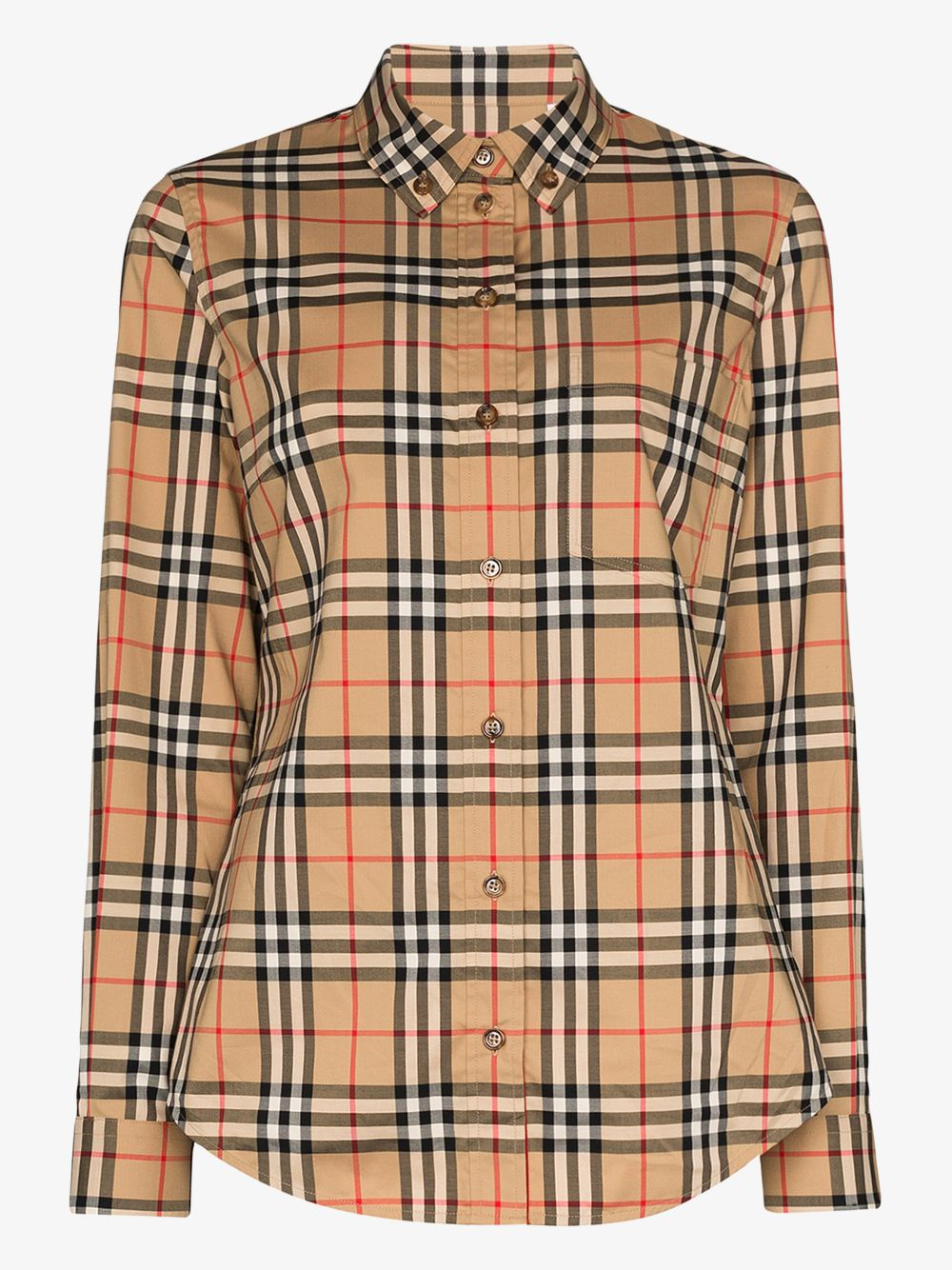 camicia beige in Burberry Vintage Check print BURBERRY | Camicie | 8022284-LAPWINGA7028
