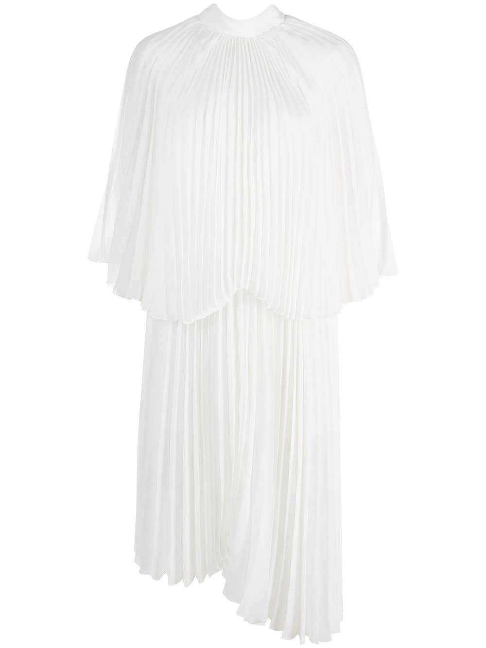 white asymmetric pleated cocktail dress fully pleated BROGNANO |  | 29BR1A26-20476301